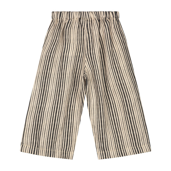 DAILY BRAT AVA LINEN PANTS IVORY / BLACK