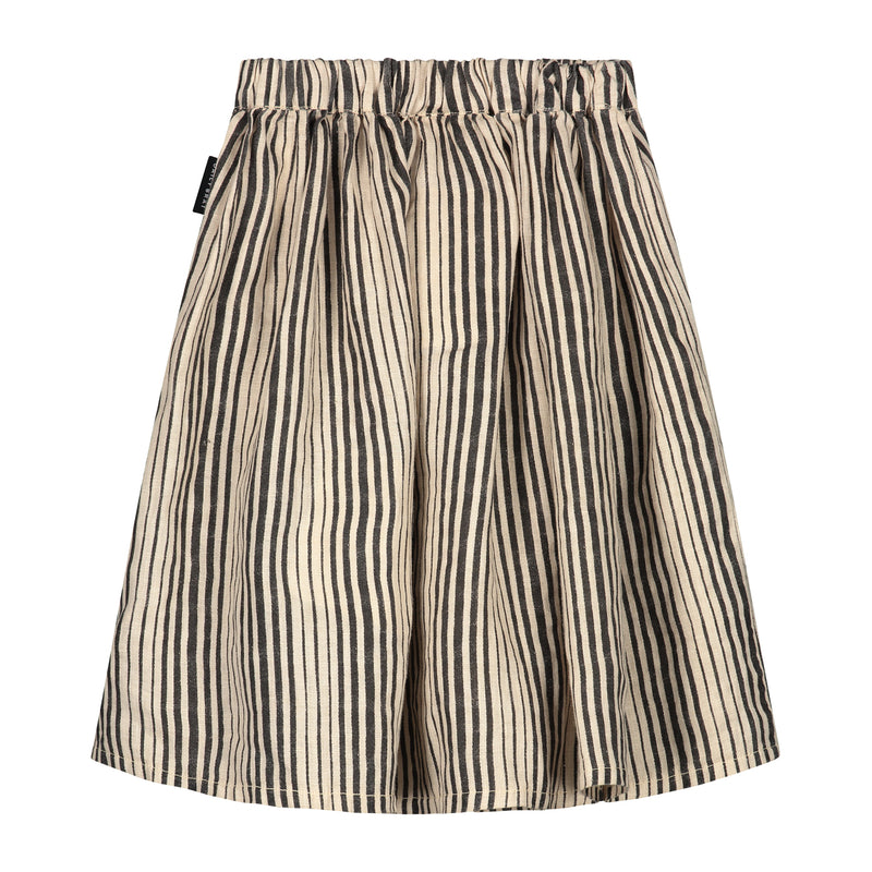 DAILY BRAT AVA LINEN SKIRT IVORY BLACK