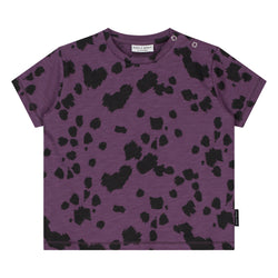 DAILY BRAT DALMATIAN T-SHIRT PURPLE RAIN