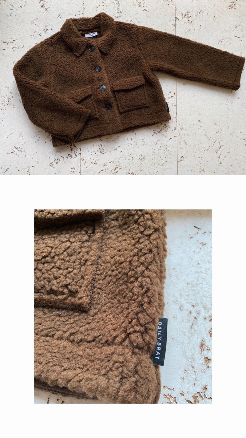 DAILY BRAT JAMIE TEDDY JACKET WALNUT