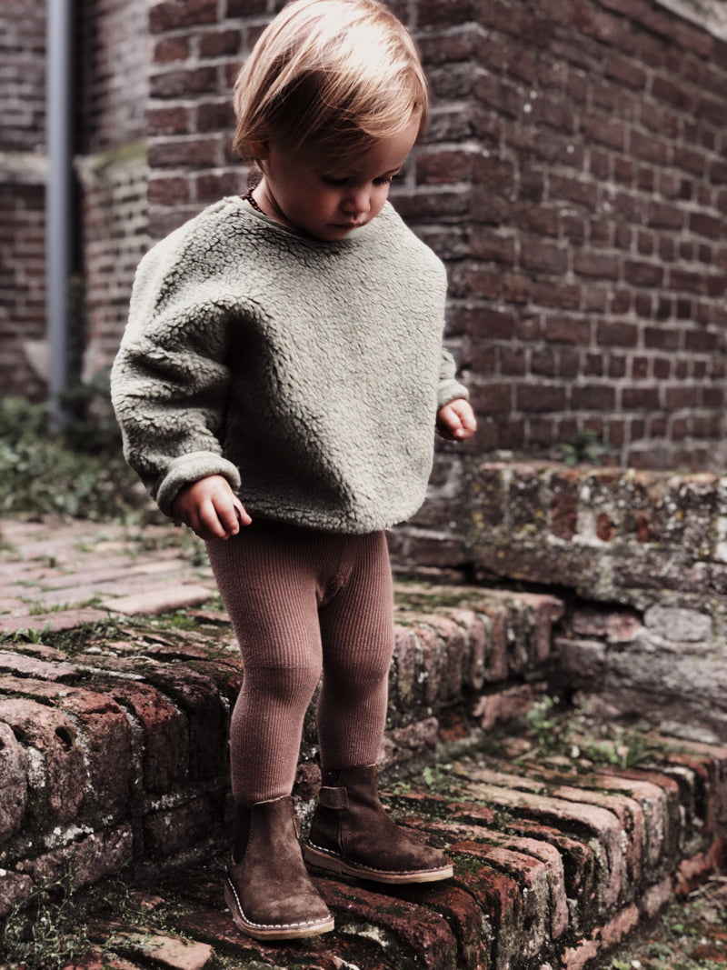 TEDDY OVERSIZED SWEATER SAGE