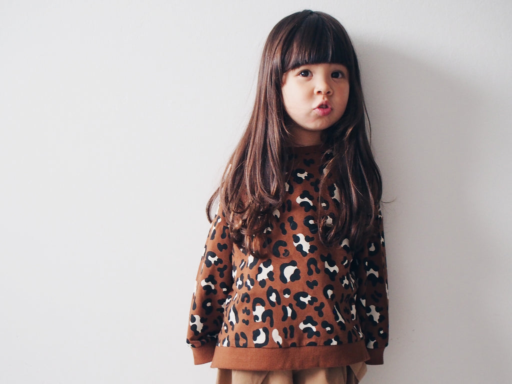DAILY BRAT LEOPARD SWEATER BROWN