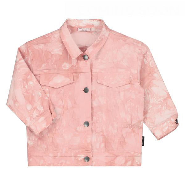 DAILY BRAT TIE DYE JACKET DUSTY PINK