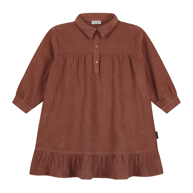 LILYAN CORDUROY DRESS MAHOGANY - ONLINE EXCLUSIVE