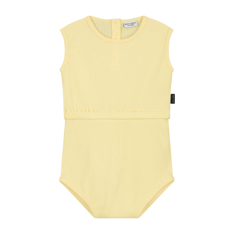 DAILY BRAT JIXY PLAYSUIT PASTEL LEMON
