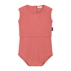 DAILY BRAT JIXY PLAYSUIT MARSALA