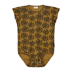 DAILY BRAT PAINTED FLOWER BODYSUIT SANDSTONE