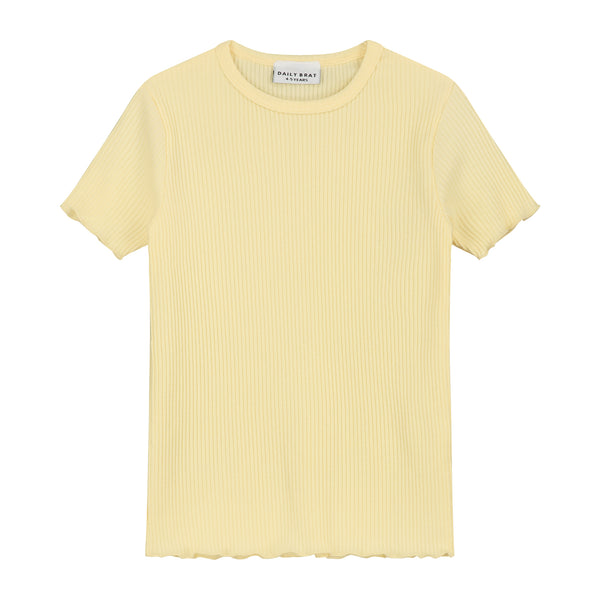 DAILY BRAT ROSIE T-SHIRT PASTEL LEMON
