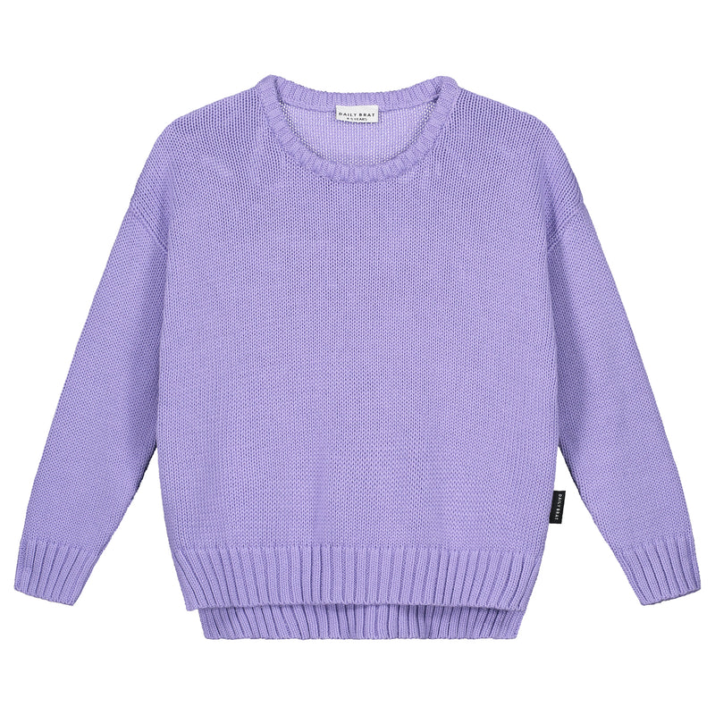 DAILY BRAT AUSTIN OVERSIZED KNITTED SWEATER LILAC