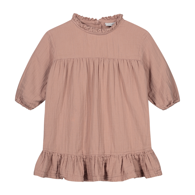 DAILY BRAT LOIS OVERSIZED RUFFLE DRESS DUSTY PINK - LIMITED EDITION