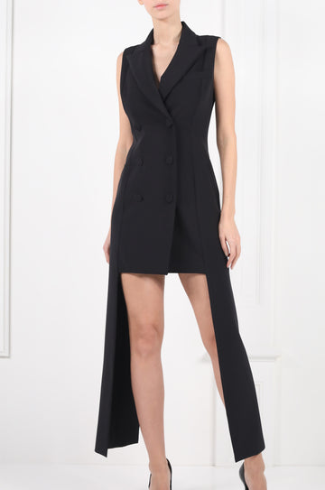 Tuxedo double-breasted short dress