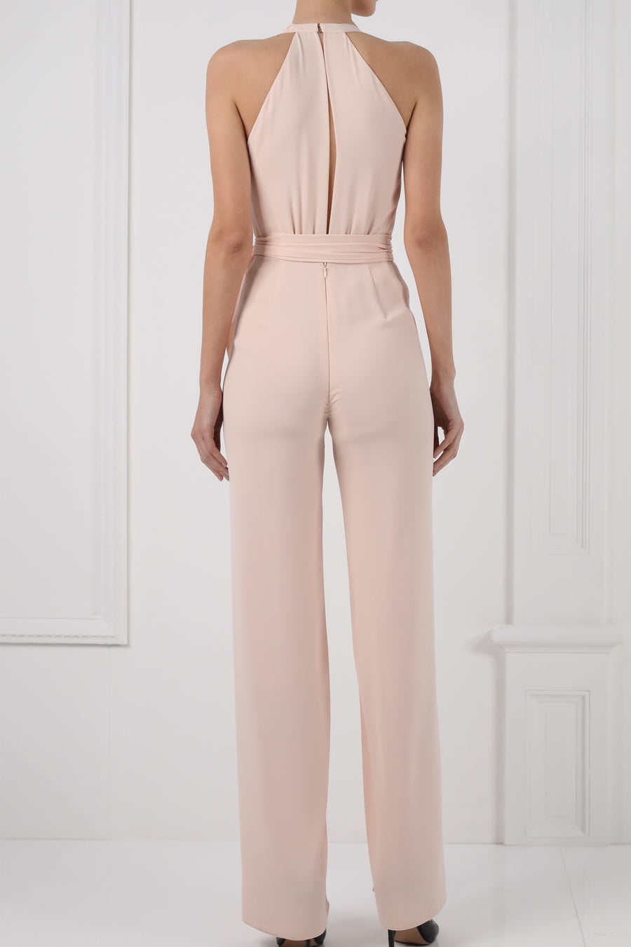 Plunged one-sided jumpsuit