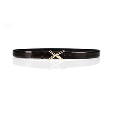 Load image into Gallery viewer, 'Avery' Python Cross Buckle Belt
