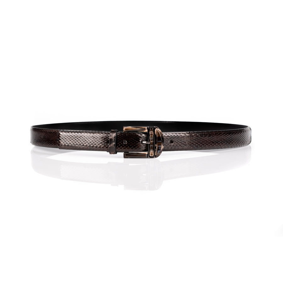 'Zoe' Marble-Like Buckle Jeans Belt