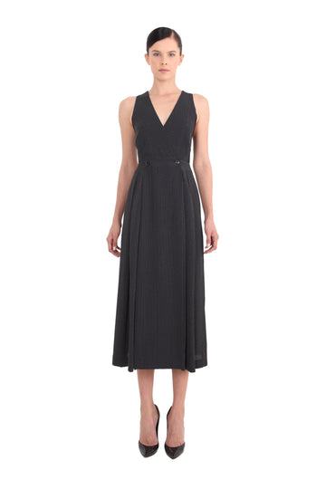 'Naomi' Sleeveless Maxi Wrap Dress