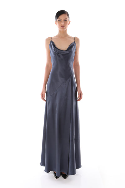 'Cindy' Satin Long Dress