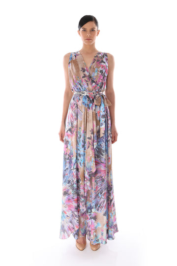 'Layla' Floral Wrap Dress