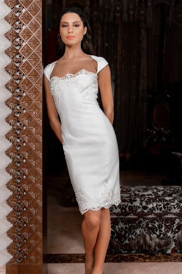 Royal-Lace Slim Dress