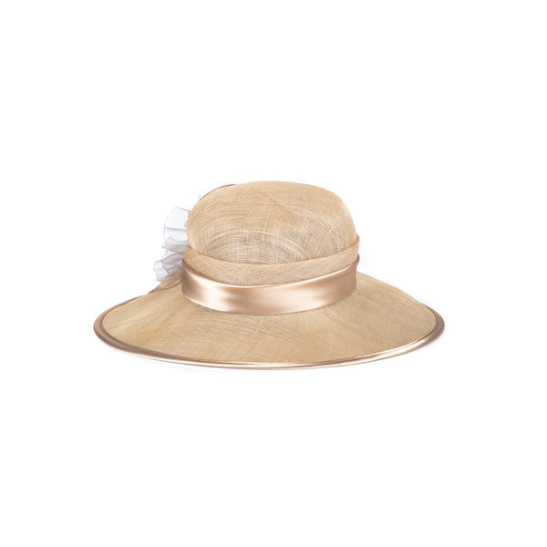 'Sienna' Mesh-Like and Satin Hat