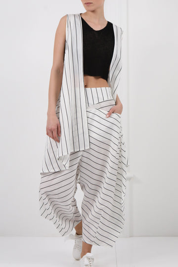 Stripped Gilet With Matching Pant