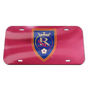 RSL Red Crystal Mirror License Plate