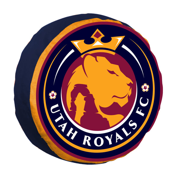 Utah Royals FC Round Logo Cloud Pillow