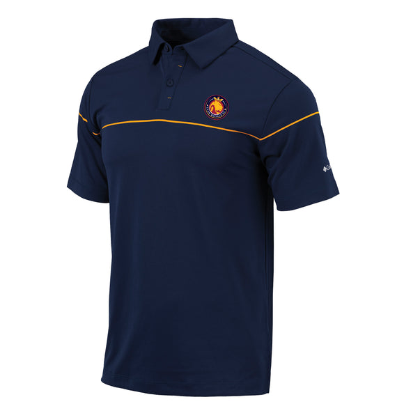 Utah Royals FC Columbia Mens Navy/Gold Breaker Polo