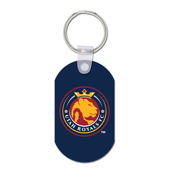 Utah Royals FC Aluminum Dog Tag Key Ring