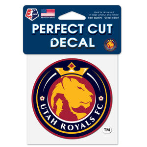 "Utah Royals FC 4""x 4"" Perfect Cut Decal"