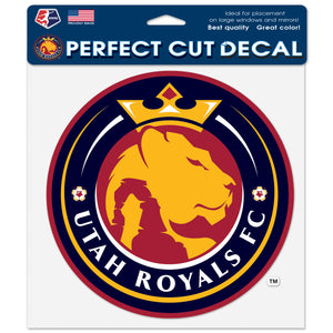 "Utah Royals FC 8""x 8"" Perfect Cut Decal"