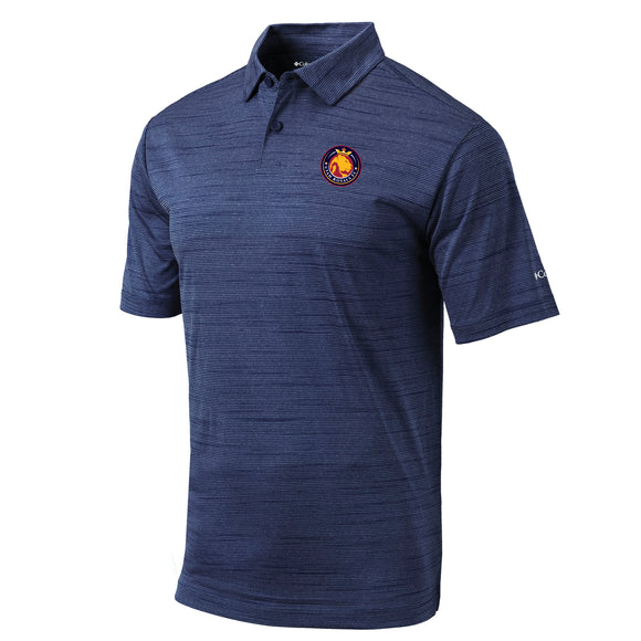 Utah Royals FC Columbia Mens Navy Set Polo Shirt