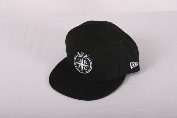 Utah Royals FC New Era 9FIFTY Black & White URFC Crown Logo Snapback