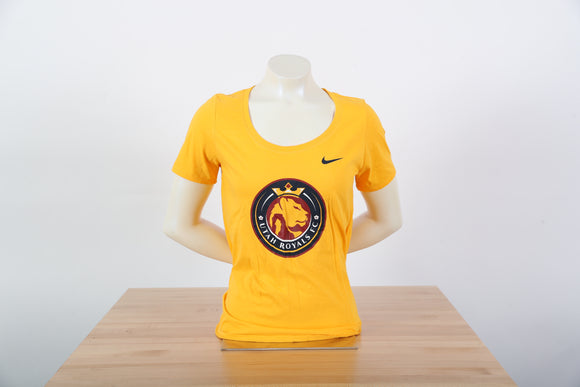Utah Royals FC Women's Nike Gold Logo Scoop Neck T-Shirt