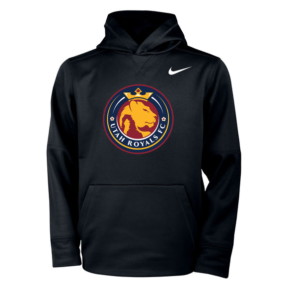 Utah Royals FC Nike Logo Youth Black Hooded Sweatshirt