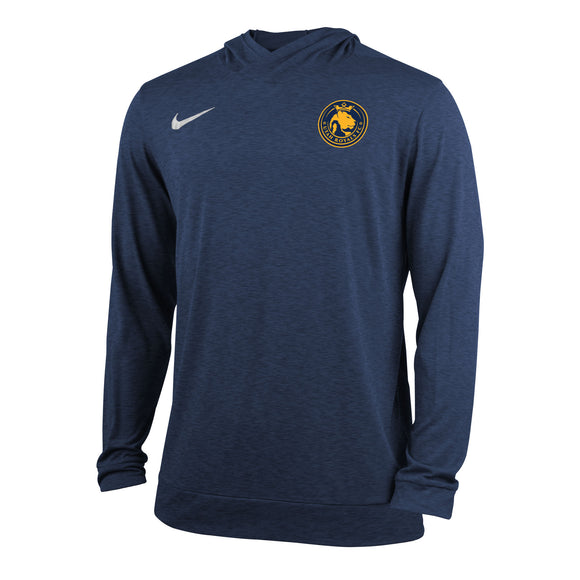 Utah Royals FC Nike Mens Navy/Gold Dry Top Hooded Long Sleeve Shirt