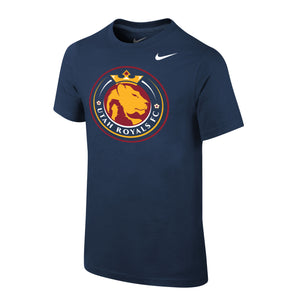 Utah Royals FC Nike Youth Navy Logo Short Sleeve Shirt