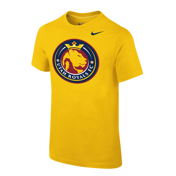 Utah Royals FC Nike Youth Gold Logo Short Sleeve Shirt