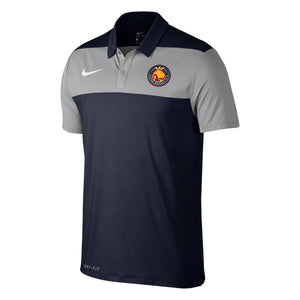Utah Royals FC Nike Mens Navy Color Block Polo