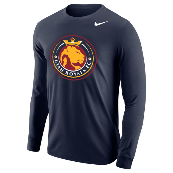 Utah Royals FC Nike Mens Navy Core Cotton Long Sleeve Shirt