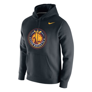 Utah Royals FC Nike Mens Black Logo Hooded Sweatshirt
