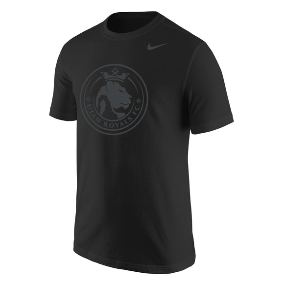 Utah Royals FC Nike Mens Black-Out Logo T-Shirt