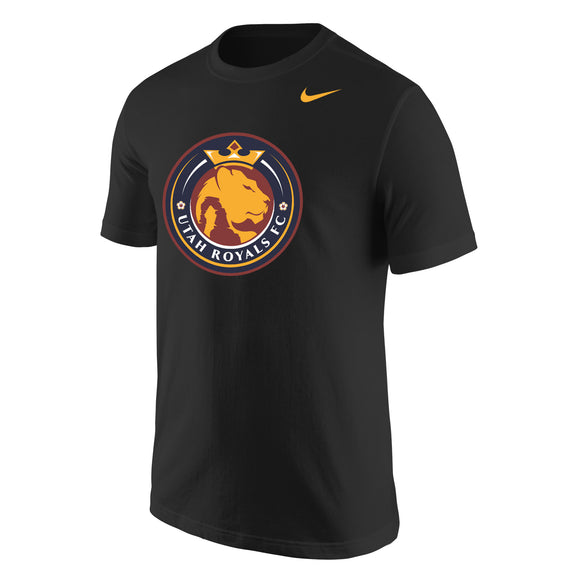 Utah Royals FC Nike Mens Black Core Cotton T-Shirt
