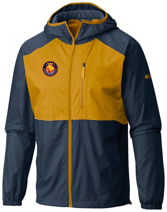 Utah Royals FC Columbia Mens Navy/Gold Flash Forward Windbreaker
