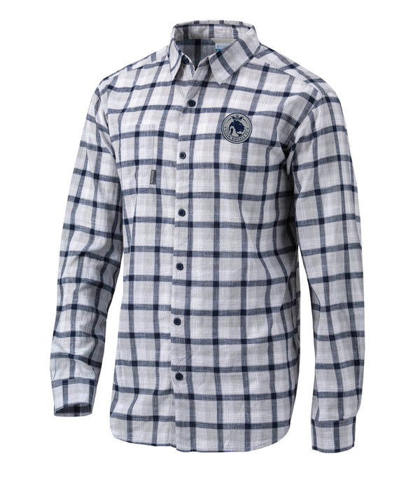 Utah Royals FC Columbia Mens Navy Plaid Under Exposure Dress Shirt