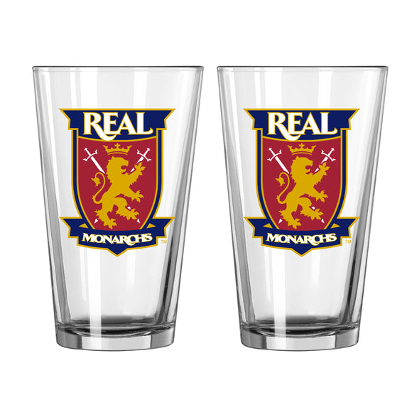 Real Monarchs Pint Glass