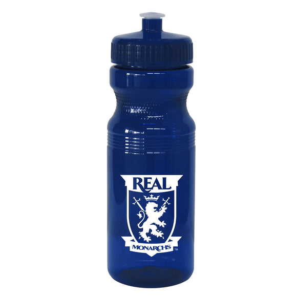 Real Monarchs Navy Plastic Water Bottle