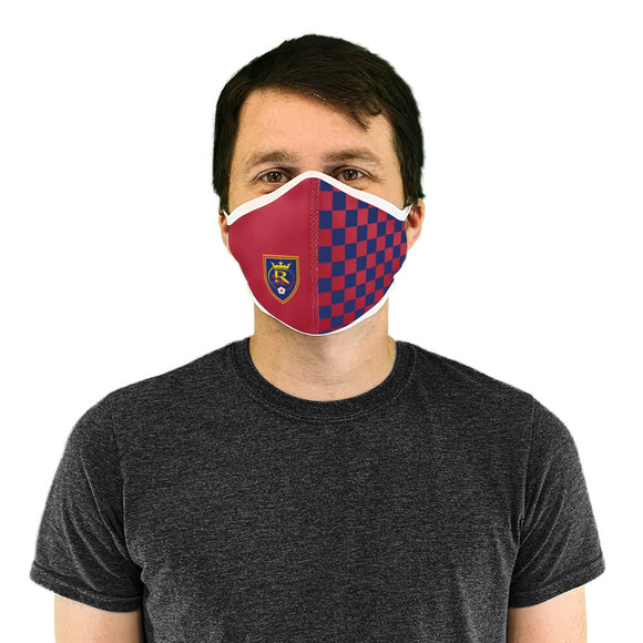 RSL Red & Blue Checkered Premium Face Mask