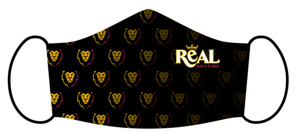 RSL Black Leo Scatter Face Mask
