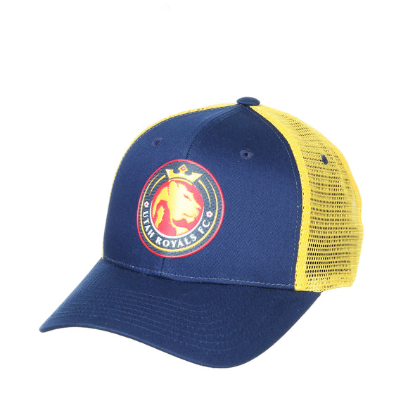 Utah Royals FC Zephyr Navy/Gold FlexStyle Big Rig Trucker