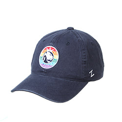 Utah Royals FC Zephyr Navy Scholarship Rainbow Patch Hat